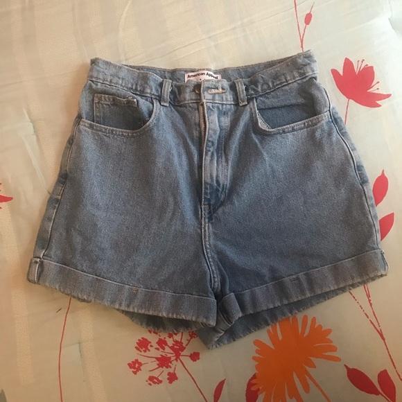 American Apparel Pants - High waisted denim shorts